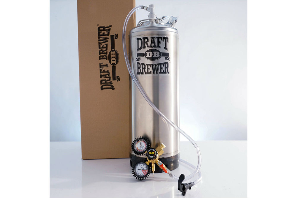 Draft Brewer Single Homebrew Kegging System for Home Brew Beer - with Dual Gauge CO2 Regulator and a Single Ball Lock Keg Review